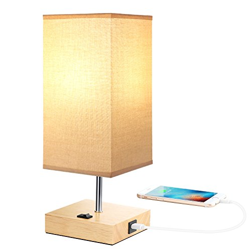 Bedside Usb Table Lamps For Bedroom Usb Charging Port