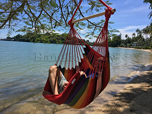 large brazilian hammock chair by hammock sky   quality cotton weave for superior  fort  u0026 durability   extra long bed   hanging chair for yard bedroom     large brazilian hammock chair by hammock sky   quality cotton      rh   promopure