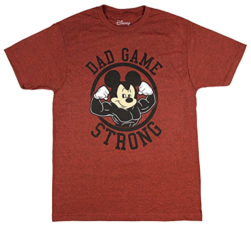 Disney men 39 s mickey mouse dad game strong t shirt x large for Oversized disney t shirts