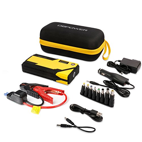 Engines up to 3L Gas and 2.5L Diesel Compass /& LCD Screen /& LED Flashlight DBPOWER 500A Peak 12000mAh Portable Car Jump Starter Auto Battery Booster Smart Charging Port Portable Phone Charger