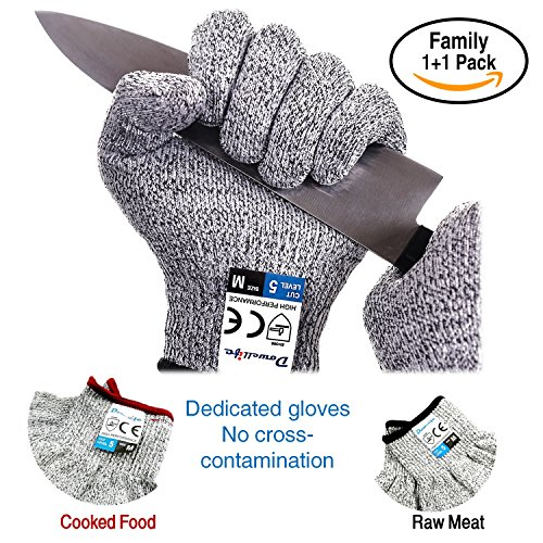 Dowellife Cut Resistant Gloves Food Grade Level 5 Protection ...