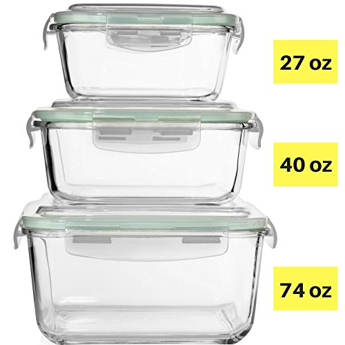 Extra Large Glass Food Storage Containers With Airtight