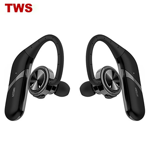 Amzluv True Wireless Earbuds Dual Bluetooth Headphones Stereo Noise Cancelling Bluetooth Headset Best Waterproof Headset For Sports Black For 39 99 Free Shipping From Amazon Promopure