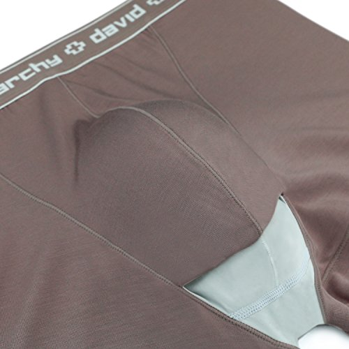 c98c6043a8 David Archy Men's 4 Pack Underwear Micro Modal Separate Pouches Trunks with  Fly (S, Coffee) for $27.99 Free Shipping from Amazon David Archy Store - ...