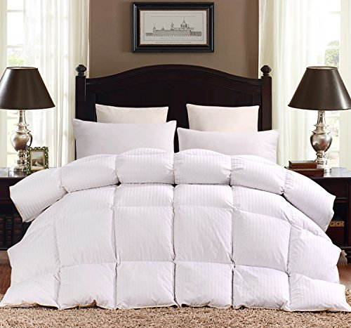 Rosecose Luxurious Heavy Goose Down Comforter King Duvet
