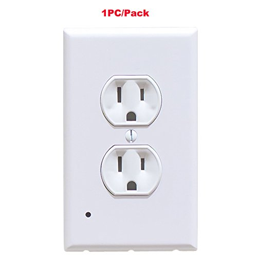 Led Wall Outlet Guide Light Safety Cover With Night Lights Easy Snap On Plate Connector Improved The