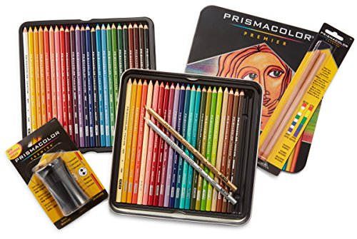 Prismacolor Premier Colored Pencils Soft Core 48 Pack 3598T With 2 Blender 962 Pencil Sharpener 1786520 For 3410 From Amazon