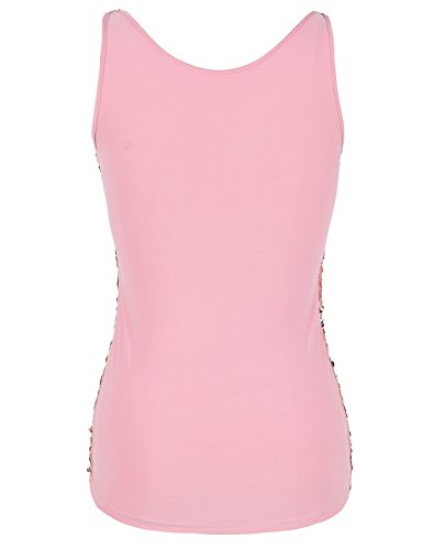 a29fab4b PrettyGuide Women Shimmer Glam Sequin Embellished Sparkle Tank Top Vest Tops  S Gold Pink for $15.99 Free Shipping from Amazon PrettyGuide Store -  PromoPure